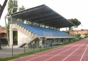 Il campo sportivo scolastico Domenico Mancinelli a Santa Barbara