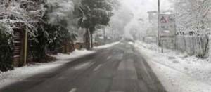 Neve sulle strade della Tuscia