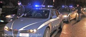 Una pattuglia della polizia