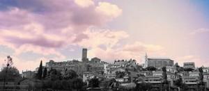 Il tramonto a Fabrica di Roma