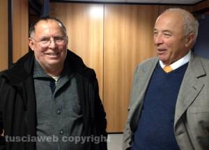 L'ex sindaco di Vitorchiano Gemini Ciancolini e il suo avvocato Severo Bruno