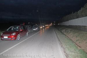 Traffico in tilt sulla Cassia nord
