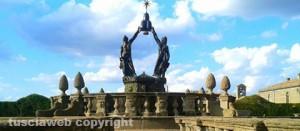 La fontana dei Quattro Mori di Villa Lante a Bagnaia