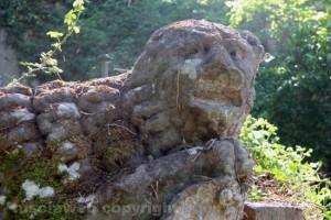 Viterbo - Riscoperta la misteriosa villa di Madonna Cornelia - Il leone