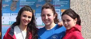 Le tre atlete