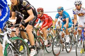 Una gara di ciclismo