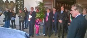Zingaretti all'apertura del museo del vino a Castiglione in Teverina