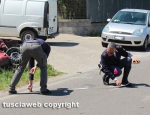 I rilievi della polizia stradale