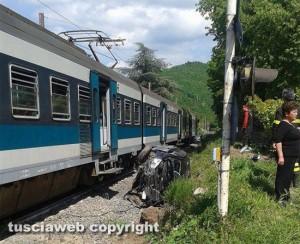 Bagnaia - Strada Montecchio - Treno travolge auto