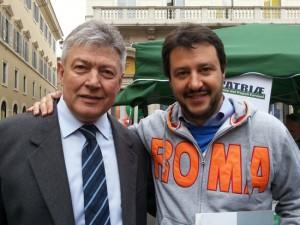 Matteo Salvini con Umberto Fusco