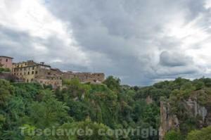 Una panoramica di Civita Castellana