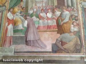 L'affresco nella sala conferenze di palazzo dei priori