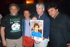 Alessandro Tozzi, Antonello Ricci e Massimiliano Morelli con Paolo Rossi