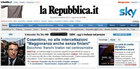 Down da ore il sito di repubblica for Sito repubblica