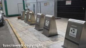 I contenitori della differenziata a Ondara in Spagna