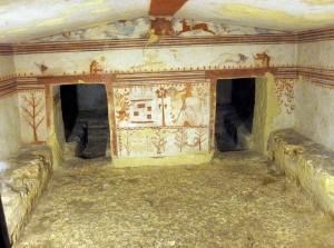 Tarquinia - Etruschi - La tomba dei tori