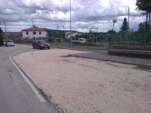 Il parcheggio della stazione Borghetto a Civita Castellana