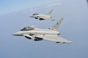 Due caccia Eurofighter dell'Aeronautica