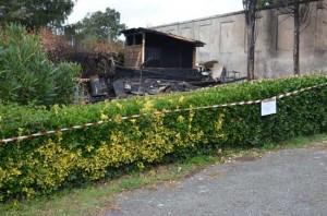 Oriolo Romano - Il chiosco incendiato