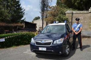 Oriolo Romano - Chiosco incendiato - L'intervento dei carabinieri