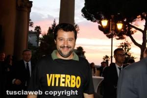 Viterbo - Matteo Salvini al trasporto della macchina di santa Rosa del 2014