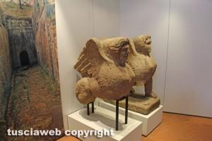 Le sfingi del Museo nazionale Etrusco alla rocca Albornoz