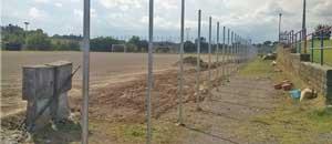 La recinzione al campo sportivo Sassacci