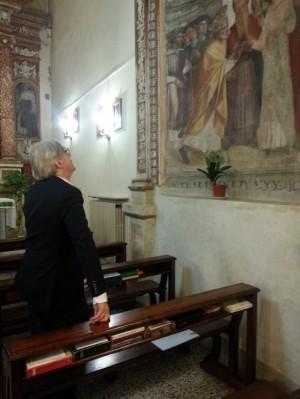 Vittorio Sgarbi in visita a Ronciglione
