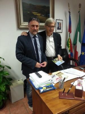 Ronciglione - Il sindaco Alessandro Giovagnoli e Vittorio Sgarbi