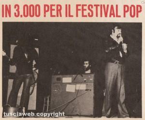 Un momento del Festival pop a Viterbo