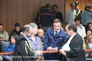 Angela e Gianluca Manca con i loro avvocati Antonio Ingroia e Fabio Repici