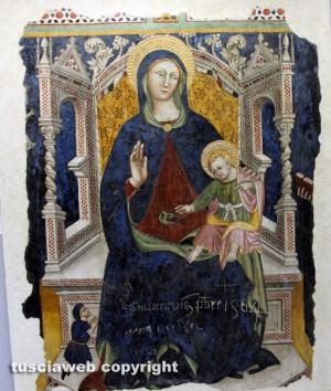 Viterbo - Museo civico -La Madonna del cardellino di Francesco D'Antonio detto il Balletta