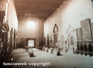 Viterbo - Museo civico - L'allestimento nelle chiesa della verità