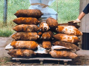 Le armi ritrovate a Chemical city tra il 1996 e il 2000