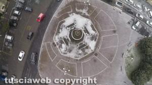 Viterbo - Neve nella zona di piazza della Rocca vista col drone