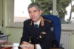 Il comandante della Polstrada Gianluca Porroni