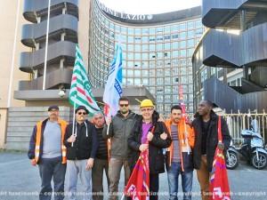 Talete, la protesta dei lavoratori sotto la Regione