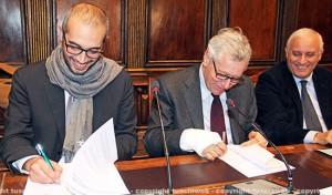 Civiter - La firma dei sindaci di Civitavecchia Cozzolino e Viterbo Michelini