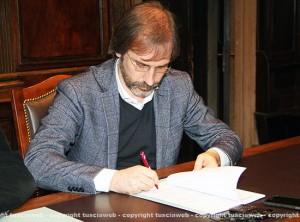 Civiter - La firma del sindaco di Rieti Petrangeli