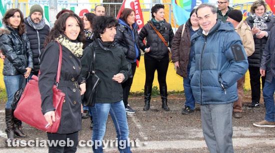 Elvira Fatiganti (Uil), Donatella Ayala (Cgil) e Fortunato Mannino (Cisl)
