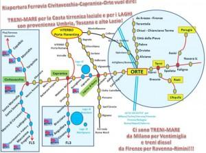 La linea ferroviaria Civitavecchia – Capranica – Orte - Clicca sull'immagine per ingrandirla