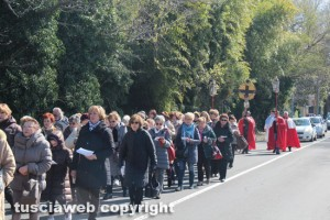 La processione Bagnaia - La Quercia