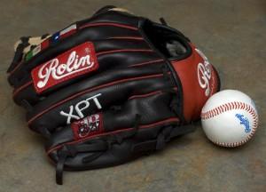 Un guanto da baseball