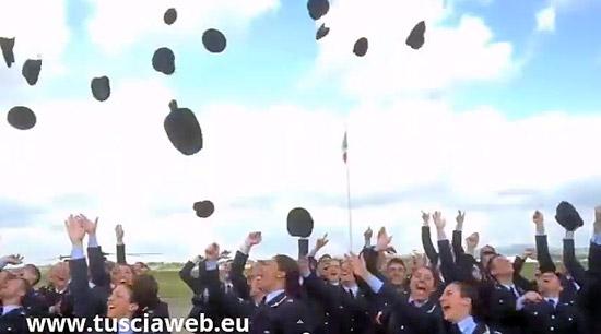 Viterbo - Gli allievi del 17esimo corso Uriel dell'aeronautica militare