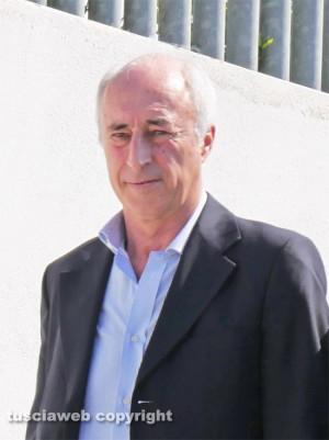 Inchiesta rifiuti - Francesco Bonfiglio (Viterbo Ambiente) all'uscita dal tribunale