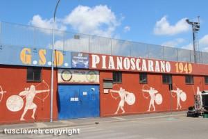 Viterbo - Il campo di calcio Oliviero Bruni di Pianoscarano