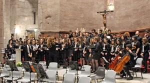 Il coro del liceo musicale santa Rosa da Viterbo