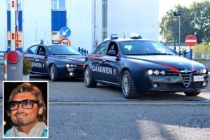 L'operazione dei carabinieri e nel riquadro Matteo Leporatti