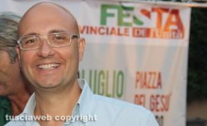 Il sindaco di Civita castellana Gianluca Angelelli
