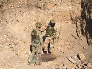 Orte - Gli artificieri dell'esercito in azione